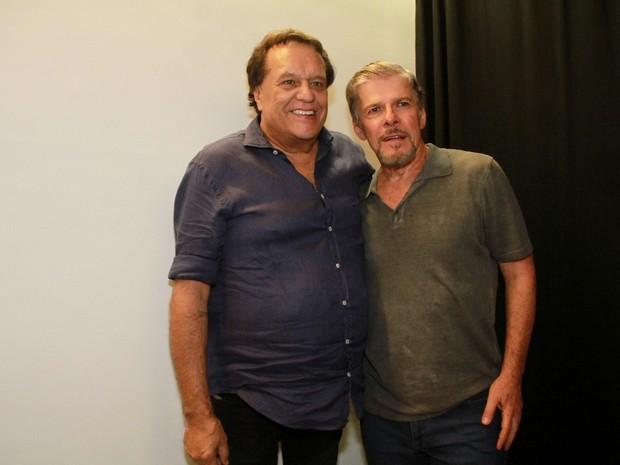 Dennis Carvalho e José Mayer em peça de teatro na Zona Oeste do Rio (Foto: Graça Paes/ Brazil News)