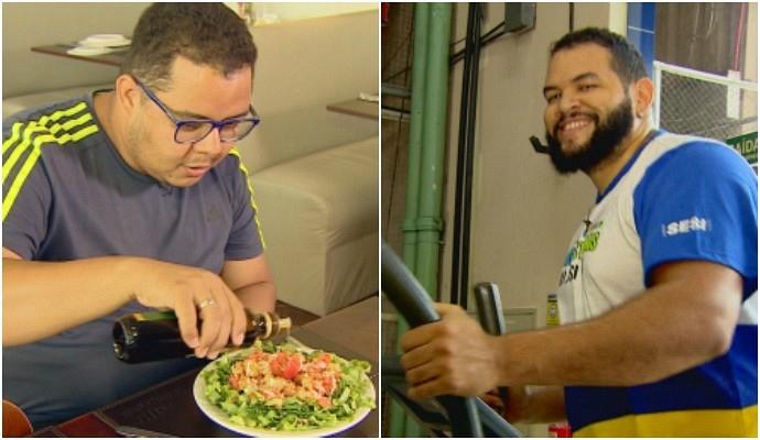 Ex-The Voice Brasil Elias Moreira e Jorjão Pampolha intensificam treinos (Foto: Rede Amazônica)