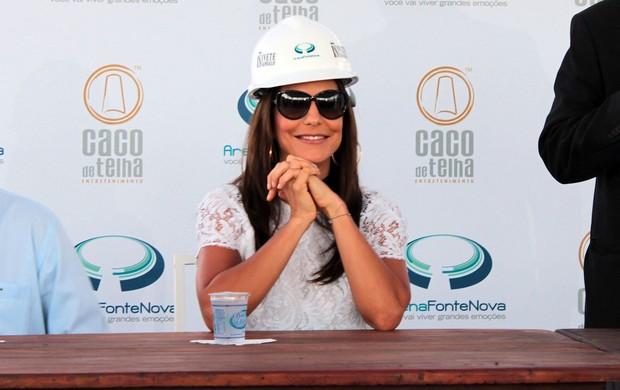 ivete sangalo e fonte nova fecham parceria (Foto: Eric Luis Carvalho/Globoesporte.com)