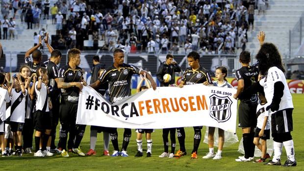 Ponte homenagem Ferrugem (Foto: Victor Hafner/ Ponte preta)
