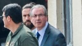 Cunha já está na carceragem da PF de Curitiba (Reprodução / Agência Brasil)