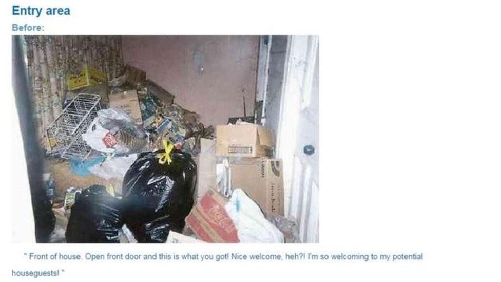 Usuários de outras redes sociais mostram fotos associando depressão a casas desarrumadas (Foto: SQUALOR SURVIVORS / KIMMY)