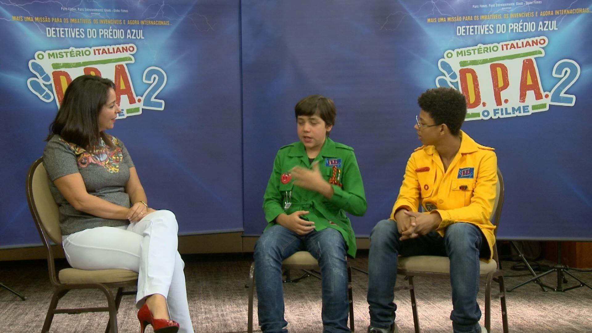 3c1637612c6 Em Cena  atores do longa  Detetives do Prédio Azul - 2  contam experiência  em entrevista