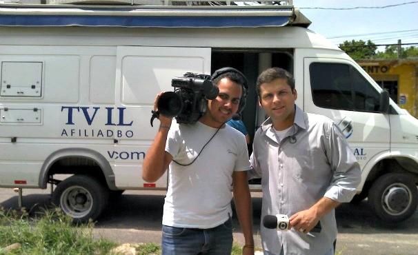 Unidade Movel de Jornalismo (Foto: Arquivo Pessoal/ Guilherme Mendes )