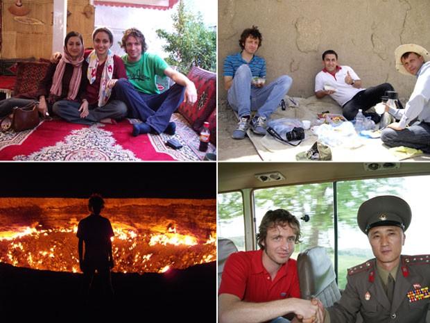 Dylan Harris, da Lupine Travel, em viagens ao Irã, Turcomenistão e Coreia do Norte (Foto: Dylan Harris/Arquivo pessoal)