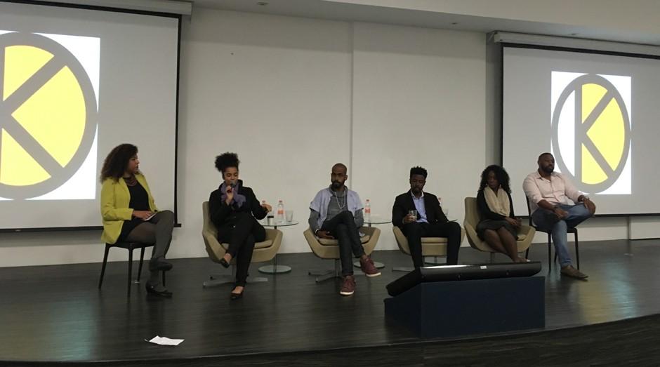 Painel do evento Black Codes: Desvendando os códigos do afro-empreendedorismo (Foto: Caio Patriani)