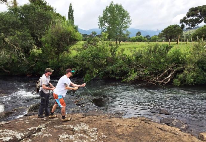 """Gui Bernardy vai mostrar o """"fly fishing"""" no Mistura (Foto: RBS TV/Divulgação)"""
