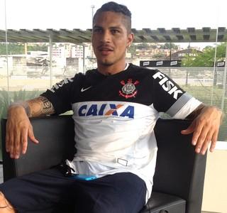 Lesão Paolo Guerrero Corinthians (Foto: Sérgio Gandolphi)