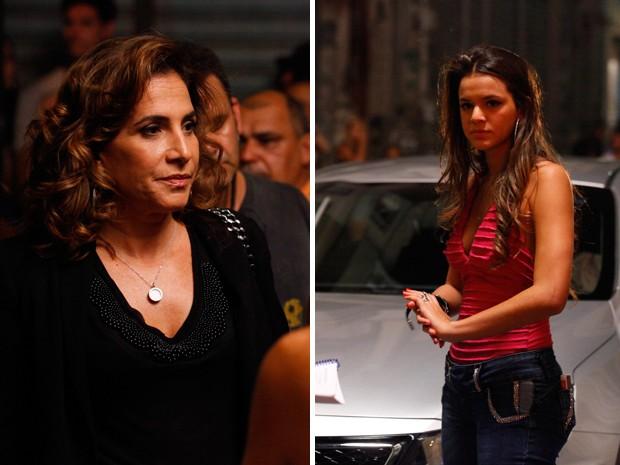 Totia Meirelles e Bruna Marquezine fazem cena tensa de suas personagens (Foto: Salve Jorge/TV Globo)