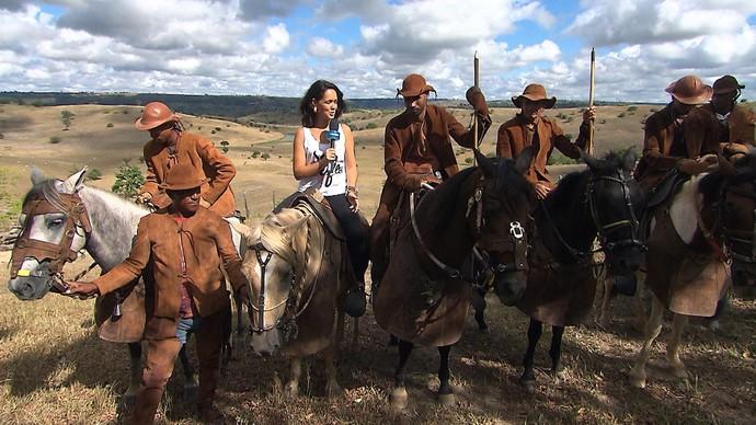 Membros do Encourados de Pedrão falam sobre importância histórica do grupo (Foto: TV Bahia)