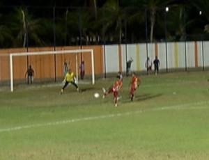 Baraúnas x Globo FC - Walter Bichão (Foto: Reprodução/Inter TV Cabugi)