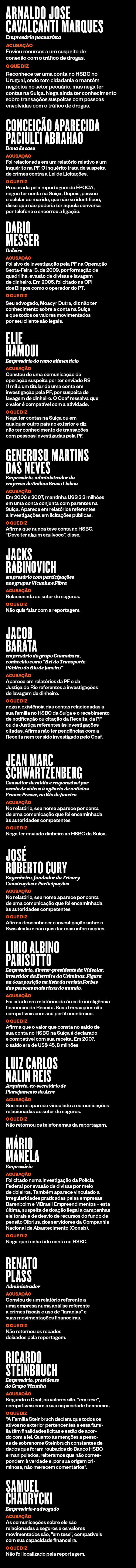 lista brasileiros com contas no HSBC na Suíça (Foto: ÉPOCA)