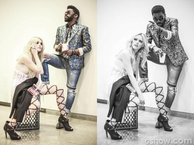 Megan e Brian têm em comum o estilo único (Foto: Aline Kras/TV Globo)