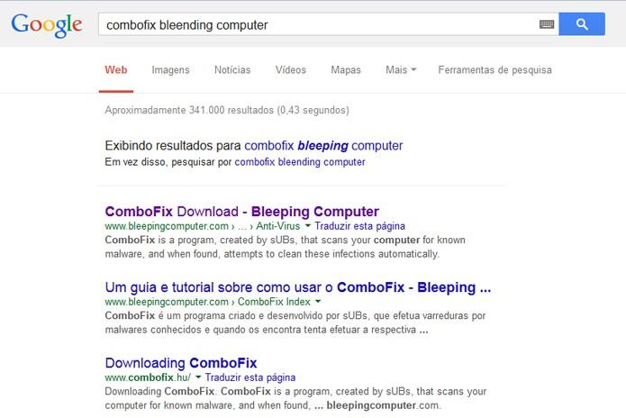 Novo layout do Google possui fonte maior e descarta sublinhados (foto: Reprodução/TechTudo)