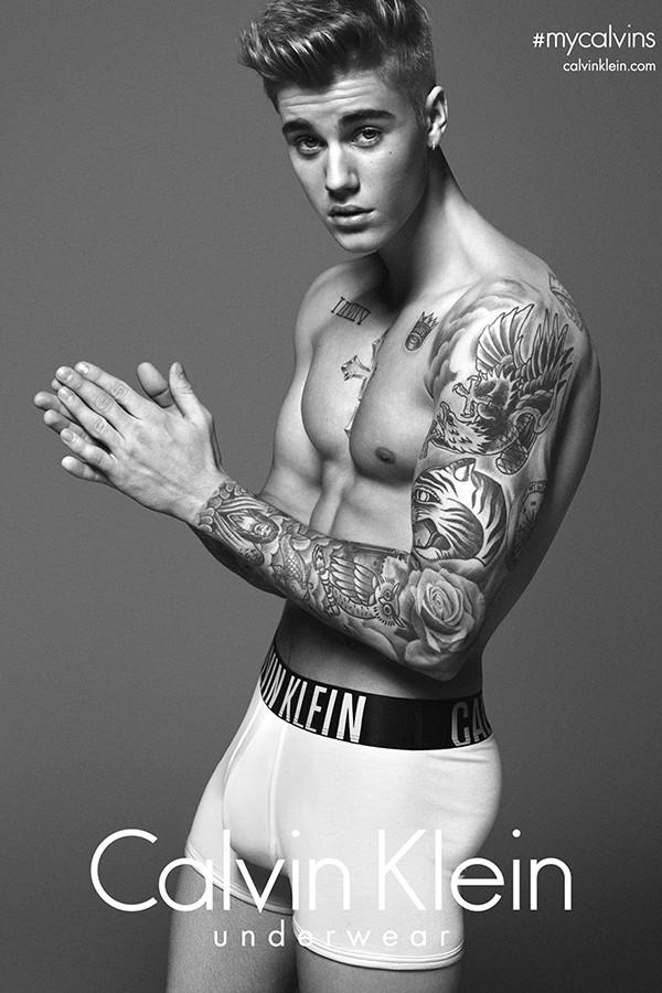 Justin Bieber para Calvin Klein (Foto: Divulgação)