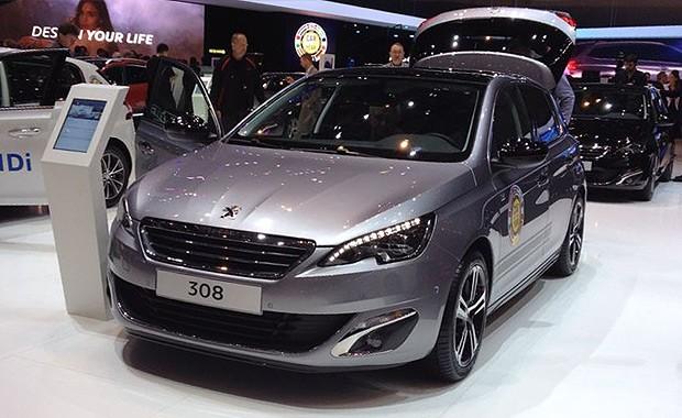Novo Peugeot 308 no Salão de Genebra (Foto: Aline Magalhães/Autoesporte)