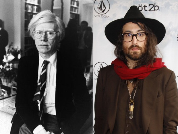 Andy Warhol e Sean Lennon: presente bizarro (Foto: Getty Images)