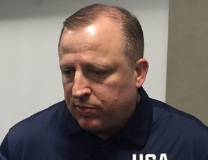 Tom Thibodeau, assistente da seleção americana (Foto: Thales Soares)