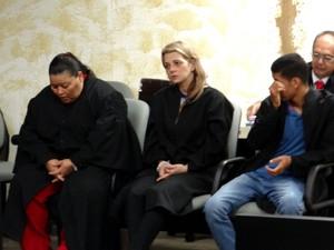 """Rosineide, a """"Neidinha"""" (esq.), e Hornella Giurizatto Libardi (dir.), foram condenadas. (Foto: Nívio Dorta/G1)"""