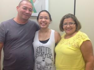Vitória Lima foi recebeu incentivos dos pais Domingos e Telma (Foto: Jéssica Alves/G1)