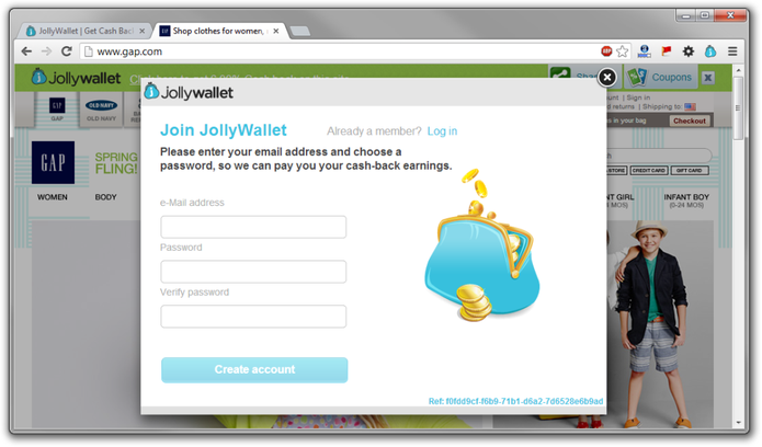 Pop-up do JoyWallet no navegador de Internet (Foto: Divulgação/JoyWallet)