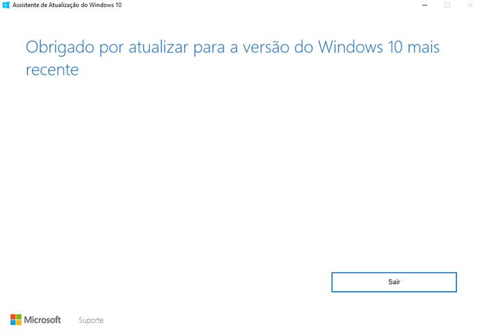 Programa instala e atualiza Windows 10 no computador (Foto: Reprodução/Microsoft)
