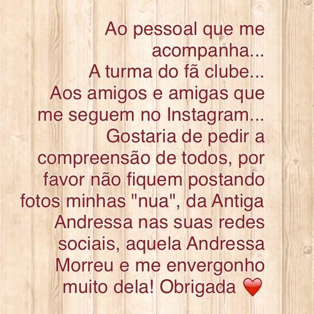 Andressa Urach (Foto: Reprodução / Instagram)