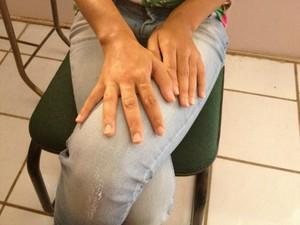 'Quero justiça', diz jovem que alega abuso em exame ginecológico, em RO (Foto: Franciele do Vale/G1)