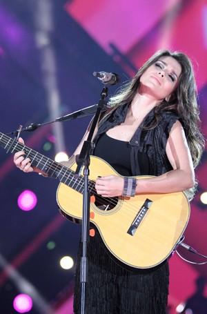 Paula Fernandes também participa do programa (Foto: João Luiz/ Globo)
