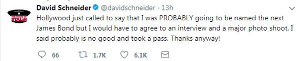 O humorista e diretor David Schneider reforçou o coro contra o presidente (Foto: reprodução/ Twitter)