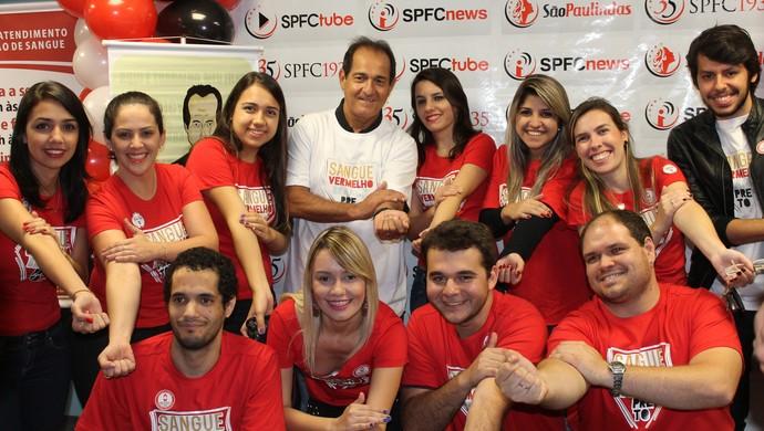 Muricy Ramalho campanha doação de sangue (Foto: Divulgação)