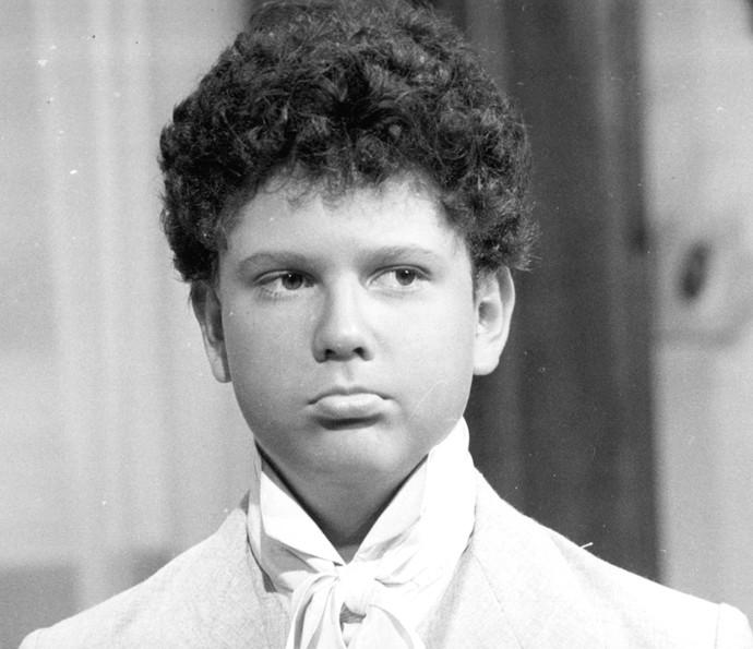 Mestiço, altivo e vivo, Seltom Mello foi Rafael em 'Sinhá Moça', menino vendido para um mercador de escravos (Foto: CEDOC / TV Globo)