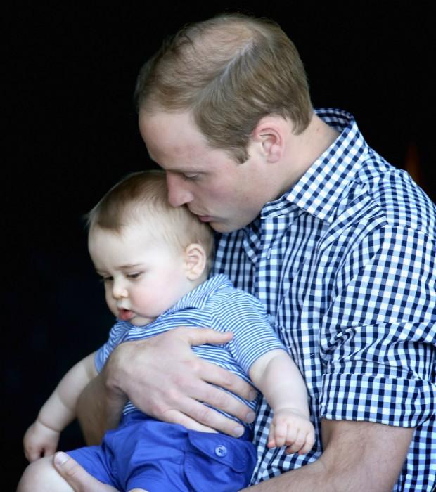 Príncipe William com George (Foto: Getty Images)