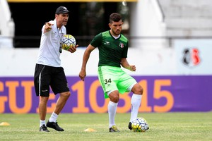 Fernando Gabriel e Milton Mendes (Foto: Marlon Costa/ Pernambuco Press)