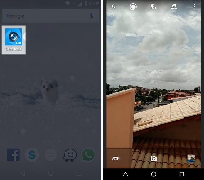 Abrindo o app Camera MX (Foto: Felipe Alencar/TechTudo)