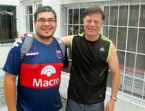 Daniel Aguilera e Daniel Cobito do Tigre (Foto: Marcelo Prado / Globoesporte.com)