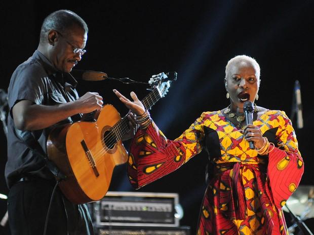Angelique Kidjo toca no Palco Sunset neste sábado (26) (Foto: Alexandre Durão/G1)