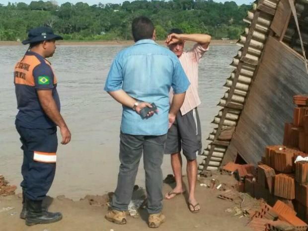 Famílias afetadas serão realocadas (Foto: Defesa Civil/Divulgação)