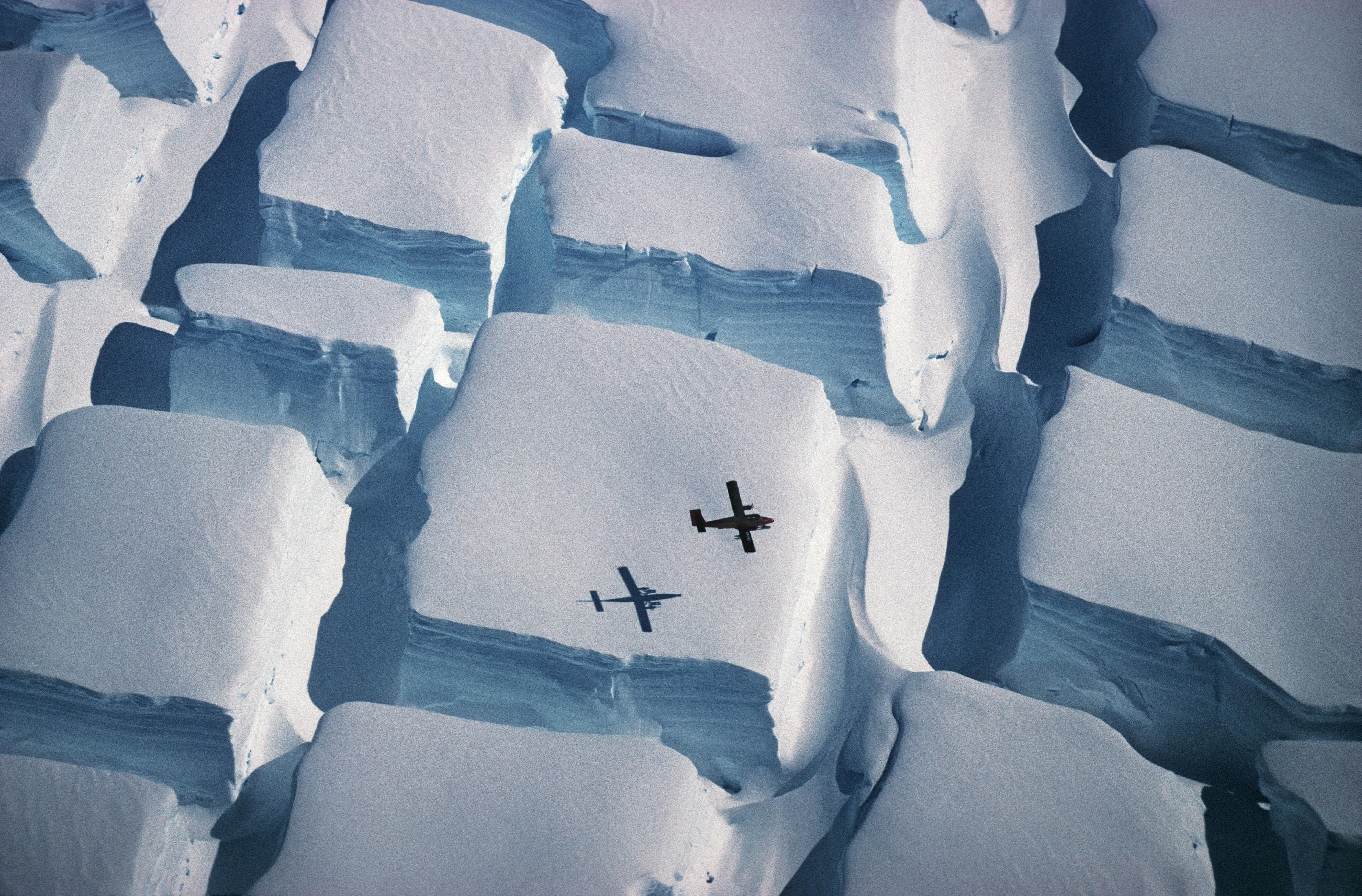 """Os """"cubos de gelo"""" da Antártida em foto clicada pelo ecologista Peter Convey (Foto: Peter Convey/Divulgação)"""