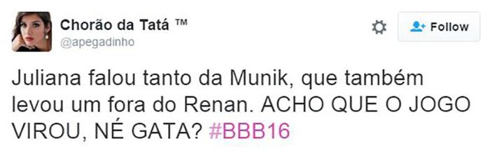 post juliana e renan (Foto: web)