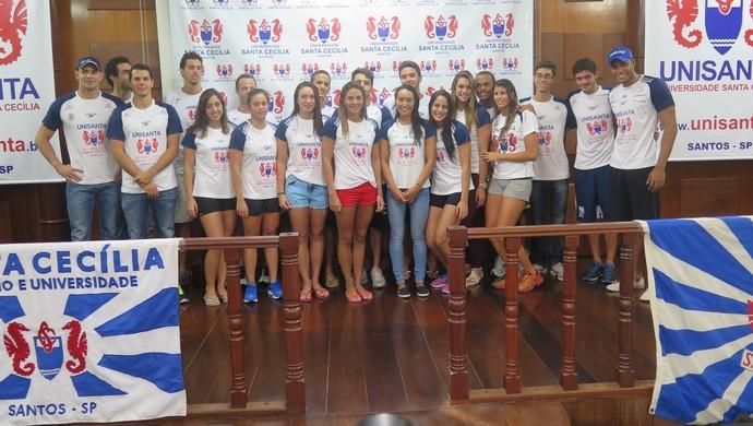 equipe natação unisanta 2015 (Foto: Antonio Marcos)