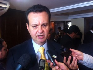 Kassab deu entrevista após participar de evento do PSD em Brasília (Foto: Filipe Matoso/G1)