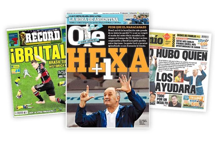 montagem capas jornais (Foto: Editoria de Arte)