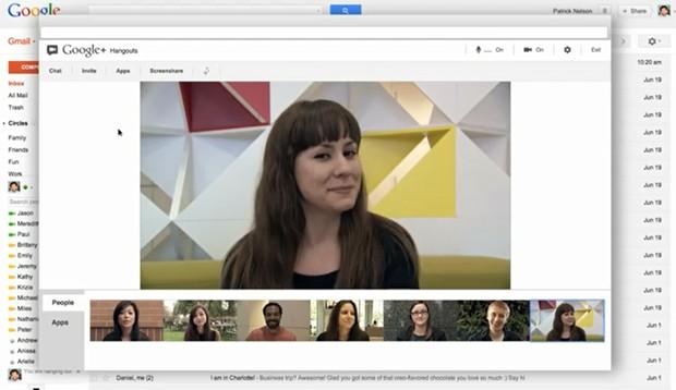 'Hangout' dentro do Gmail (Foto: Reprodução)