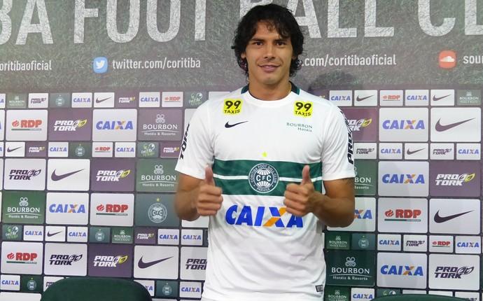 Nery Bareiro Coritiba (Foto: Monique Silva)