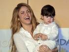 Fofo! Filho de Shakira rouba a cena em inauguração de escola