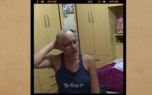 Fabricia decide raspar o cabelo  (rede globo)
