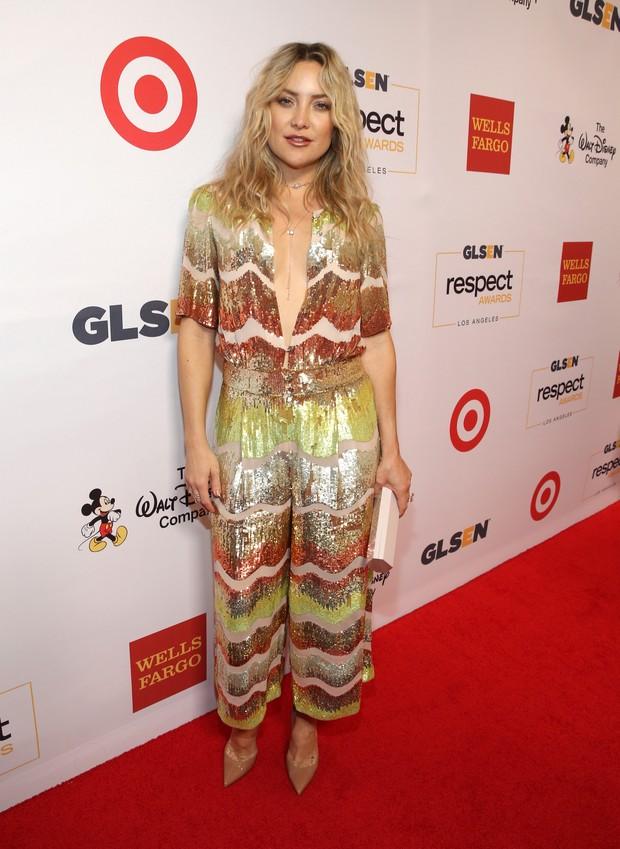 Kate Hudson em premiação em Los Angeles, nos Estados Unidos (Foto: Jonathan Leibson/ Getty Images/ AFP)