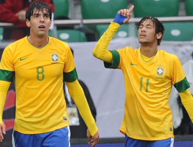 Neymar kaká brasil gol japão - Agência AP (Foto: Agência AP)