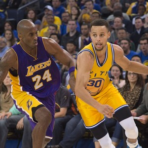 Kobe Bryant e Stephen Curry Warriors x Lakers NBA (Foto  Reuters) 363ab93e93120